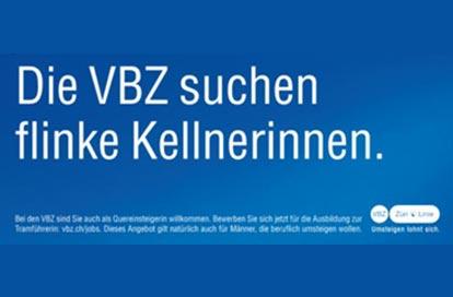 Werbebanne von VBZ