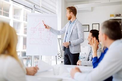 Menschen  Whiteboard Unternehmensberater